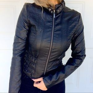 Faux Leather Moto Jacket by Charlotte Russe